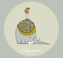friendly elephant by macen