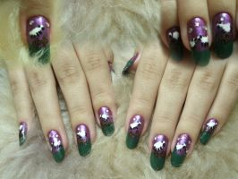 Sheep Nail Art by kirarachan