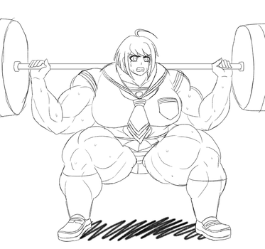 Komaru's 30-Day Challenge: Muscle Edition - Day 13 by DepravedDefense