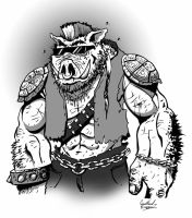 Bebop grayscale by Ninja-Turtles