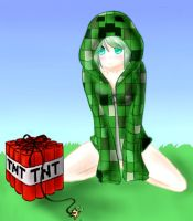 Creeper girl! by nadiki