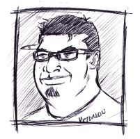 quick pen sketch of me by victomon