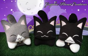 Kawaii Kittens Plushies by GraphicPlanetDesign
