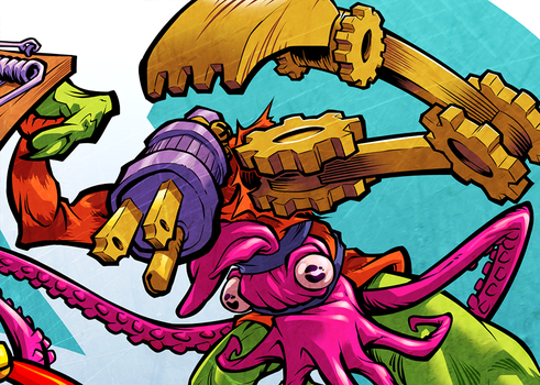 SCUD 20TH ANNIVERSARY colors (detail) 2 by pop-monkey