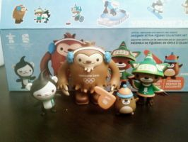 Vancouver 2010 Mascot Figures by MolochTDL
