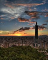 Taipei Sunset II by pacmangeek
