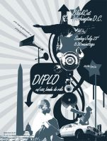 Diplo Concert Poster by definitivedoodle