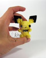 Little Pichu Amigurumi by LeFay00