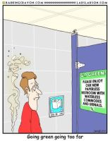 Paperless Restroom Cartoon by Conservatoons