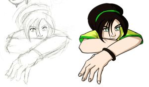 Toph sketch by Tobirone