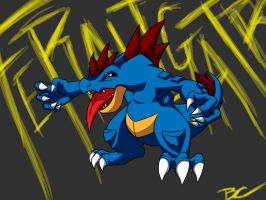 Feraligatr by DemonWolf47x