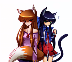 Comm  Holo And Mai By Cactusfluff by Aizix