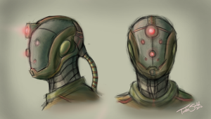 Aquatic Robot Design Concept Practice Thingy by TurboSolid