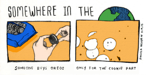 Somewhere in the World: Oreo by pikarar