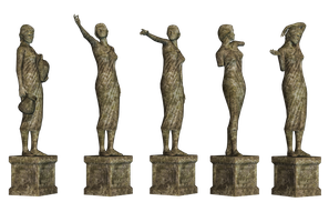 Statues 02 PNG Stock by Roys-Art