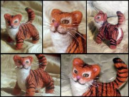 Needl- Felted Tiger by Darthpolly