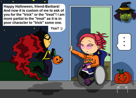 dc: the trick or the treat? by Jaybird23