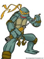 TMNT michelangelo colored by andepotskie123
