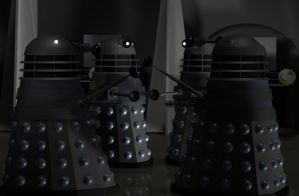 A scene from the Daleks 1963 by android65mar