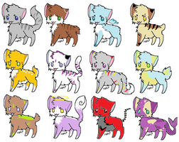 Clearance Cat adoptables by LiL-Lolah