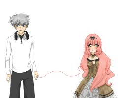 .:Collab--red string:. by princessmikan