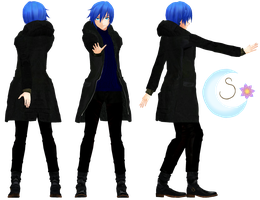 Kaito Casual Winter ver.1 up [done/reference] by Shaka-yo