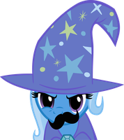 Mustache Attack Trixie by Triox404