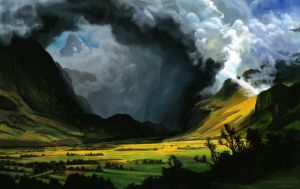 Storm in the Mountains study by e-humbert