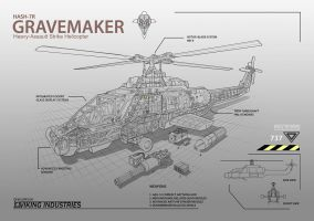 Outline for Gravemaker concept by Sprintener