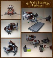 LEGO. Frol's steam podracer. review by DwalinF
