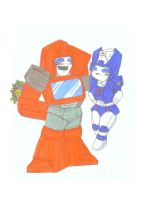 Ironhide and chromia by Kage-Jaganshi