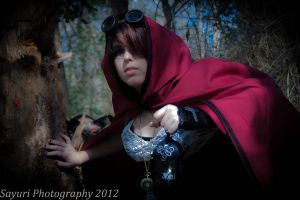 Steampunk- Little Red- Watch out behind you by sayuri13