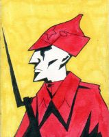 Red Soldier 2 by the-black-cat