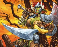 Female WOW Orc Man O War by Jonboy007007