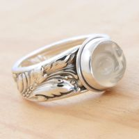 Man in the Moon Spoon Ring by metalsmitten
