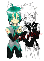 Preview Rei and Mikuo by KiraiRei