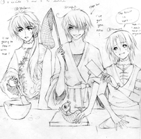 Yulong invites Cael and Yuming to dinner..... by aeriia