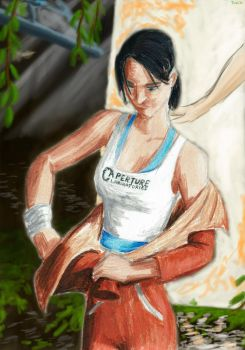 Test Subject Chell [Name redacted] by Taipu556
