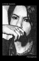 Hyde-sama - Pen and Ink by caleyndar