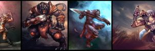 Cat Warrior  Art compilation by erek80