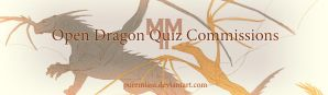 Dragon quiz commission banner by PureMissa