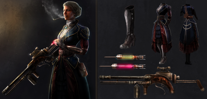 The Order Comp, Costume and Weapon Desing by AyarnE