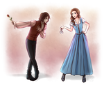 PC - Rumple and Belle by Sealkittyy