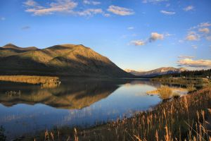 Nares Lake from Carcross by Caloxort