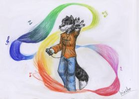 Music adds colour to life by Wandering-wolves