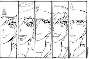 1# BoBoiBoy 5 Element (Outline) by AiraAura