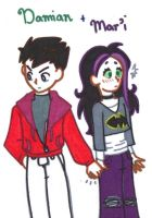 (Flirting Meme) Damian and Mar'i by gurl-luvs-sooshi