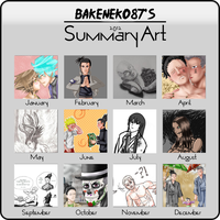 My 2012 Art Summary by Gingersnap87