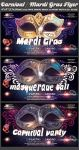 Carnival-Mardi Gras Party Flyer Template by Hotpindesigns