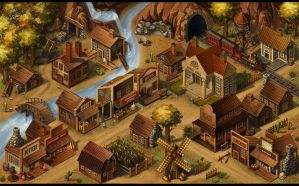 The old village by maria-istrate